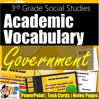 Vocabulary 3rd Grade Government