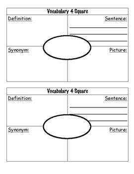 Vocabulary 4-Square