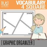 Vocabulary 4 Square Graphic Organizer