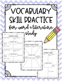 Vocabulary 4 Square Skill Practice