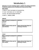 Vocabulary 4-Square Study Template