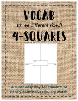 Vocabulary 4-Squares