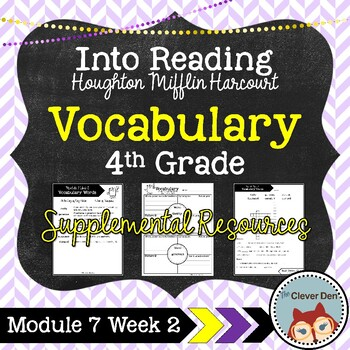 Vocabulary: 4th Grade – Into Reading HMH (Module 7 Week 2)