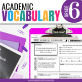 6th Grade Academic Vocabulary: Daily activities to boost academic language