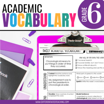 Academic Vocabulary for 6th Grade: Yearlong Bundle for War