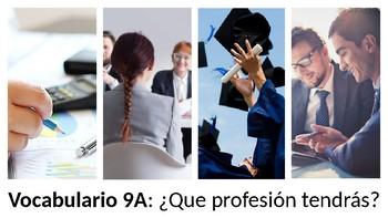 Vocabulary 9A - ¿Que profesión tendrás? - Realidades 2 - Professions/Careers