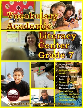 Vocabulary Academic Literacy Center Grade 7