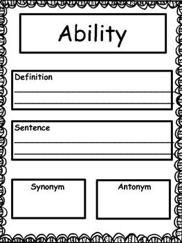 Vocabulary: Academic Vocabulary for 3rd Grade