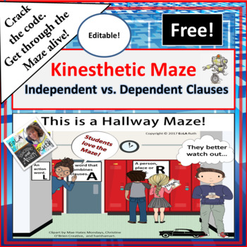 Independent vs. Dependent Clause Kinisthetic Maze