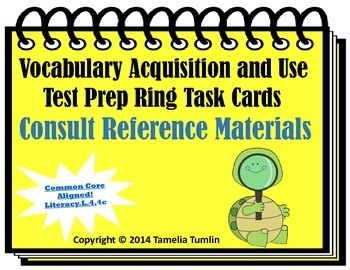 Vocabulary Acquisition Literacy Center Test Prep Rings ( R