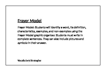 Vocabulary Acquisition Strategy Cards