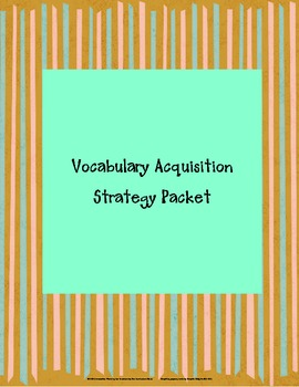 Vocabulary Acquisition Strategy Packet