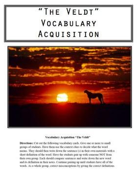 """The Veldt"" Vocabulary Acquisition"