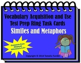 Vocabulary Acquisition Literacy Center Test Prep Rings  (Similes and Metaphors)