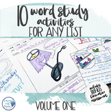 Vocabulary Activities  Word Study for Any Word List - Grades 4 - 6 Volume One
