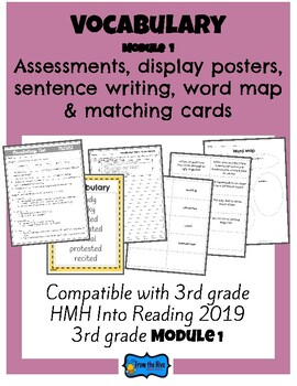 Vocabulary Activities & Assessment 3rd Grade HMH Into Reading  Module 1