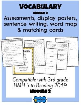 Vocabulary Activities & Assessment 3rd Grade HMH Into Reading Module 2