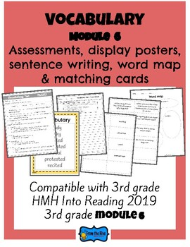 Vocabulary Activities & Assessment 3rd Grade HMH Into Reading Module 6