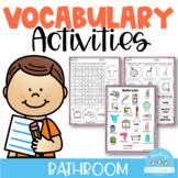 Vocabulary Activities Bathroom