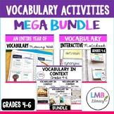 Vocabulary Activities Bundle for Grades 4-6