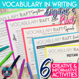 Vocabulary Writing Activities for Any List Digital & Print