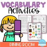 Vocabulary Activities Dining Room