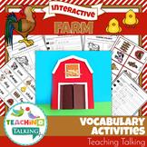 Farm Unit Vocabulary Activities