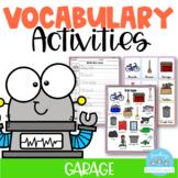 Vocabulary Activities Garage