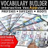 Vocabulary Activities - Interactive VocAPPulary™ (Prefixes