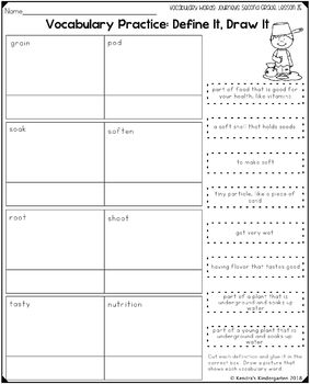 Vocabulary Activities: Journeys Second Grade