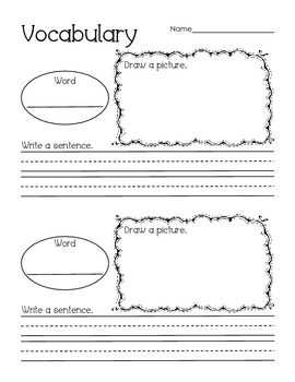 Vocabulary Activities Prima... by Perfectly Primary Printables ...