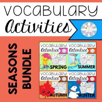Vocabulary Activities - SEASONS BUNDLE
