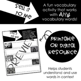Sell It To Me: Vocabulary Activity for ANY Words