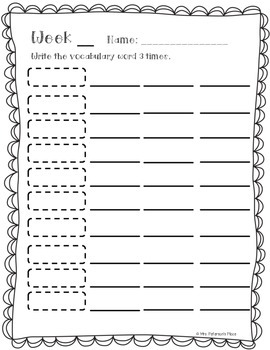 Vocabulary Activities Sheets