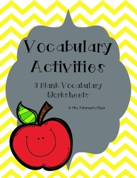Vocabulary Activities Sheets