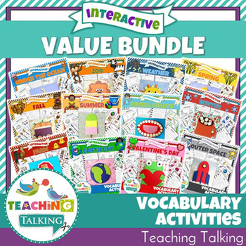 Vocabulary Activities Value Bundle ~ with St Patrick's Day Packet