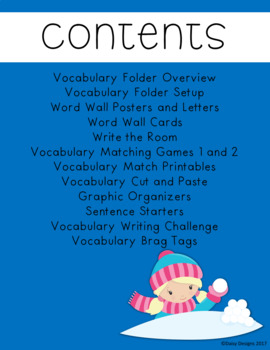 Vocabulary Activities - WINTER