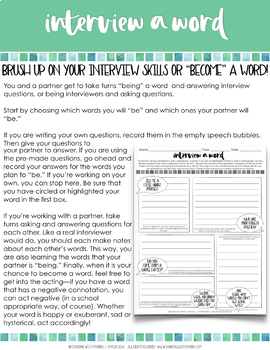 Vocabulary Activities Word Study for Any Word List - Grades 4 - 6 Volume Three
