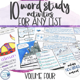 Vocabulary Activities Word Study for Any Word List - Grade