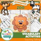 Zoo Vocabulary Activities