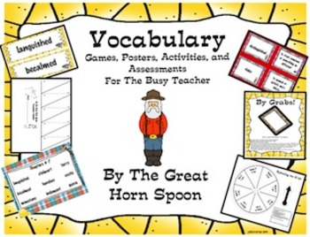Vocabulary Activities and Games For By The Great Hornspoon