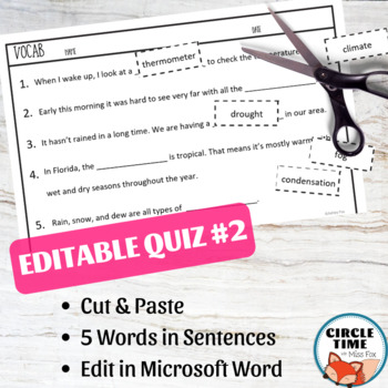 Vocabulary Activities for Any Word List with EDITABLE Vocabulary Quiz Templates