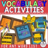 Vocabulary Activities for ANY Word List
