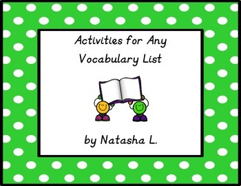 Vocabulary Activities for Any List