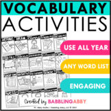 Vocabulary Activities for Any Word