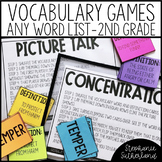 Vocabulary Activities for Any Word List | 2nd Grade