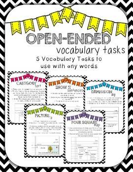 Vocabulary Activities for Any Word Set