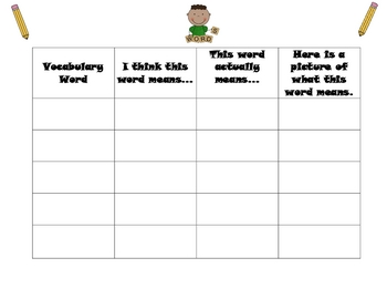 Vocabulary Activities for Elementary
