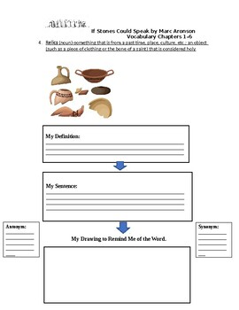 Vocabulary Activities for If Stones Could Speak: Chapters 1-6