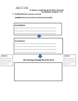 Vocabulary Activities for If Stones Could Speak: Chapters 7-9